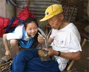 китаец с девочкой