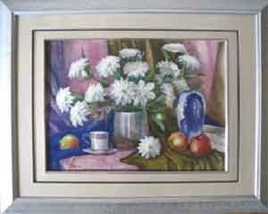 натюрморт с белыми цветами для Маши