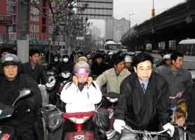 Многие велосипедисты - в касках